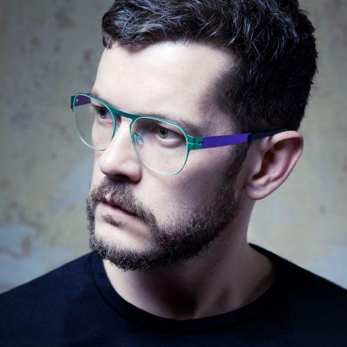 ausgefallene, handgemachte, extravagant bunte Brillen