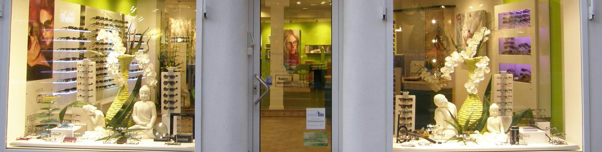 Außenansicht Schaufenster Optik Lachnit Miltenberg